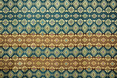 Colorful thai silk handcraft peruvian style rug surface close up Stock Images