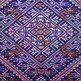 Colorful thai silk handcraft peruvian style rug surface old vintage torn conservation Made from natural materials Chemical free cl. Ose up silk background silk Royalty Free Stock Image