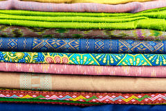 Colorful of  thai silk style Stock Photography