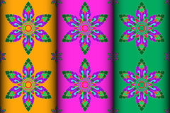 Colorful Thai style Kra Jung pattern Stock Photos