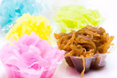 Colorful Thai Tradition Dessert. Stock Photography