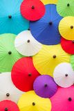 Colorful Thai traditional handmade umbrellas Stock Photography