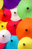 Colorful Thai traditional handmade umbrellas Royalty Free Stock Photo