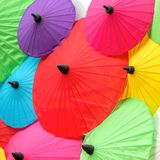Colorful Thai traditional handmade umbrellas Royalty Free Stock Images