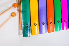 Colorful Thai traditional xylophone Royalty Free Stock Photography