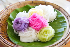 Colorful of Thai vermicelli rice noodles Royalty Free Stock Images