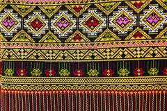 Colorful Thailand style rug surface close up Stock Photography