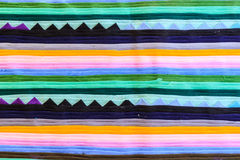 Colorful Thailand style rug surface close up Royalty Free Stock Images