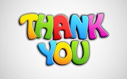 Colorful Thank You Royalty Free Stock Photography