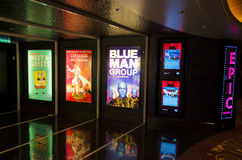 Colorful Theater Lobby in a cruse boat. Colorful Theater Lobby in a NCL cruse boat Stock Images