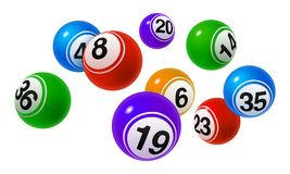 Vector Bingo / Lottery Number Balls Set Royalty Free Stock Photo