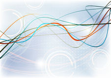 Colorful thin wavy lines Royalty Free Stock Photography