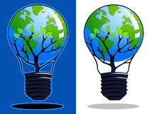 Colorful Think Green Illustrations. Two Think Green illustrations on blue and white backgrounds Royalty Free Stock Photography