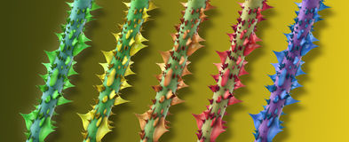 Colorful thorns Royalty Free Stock Image