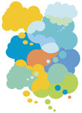 Colorful Thought Bubbles Stock Photography