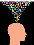 Colorful Thoughts Royalty Free Stock Photography