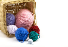 Colorful thread basket Royalty Free Stock Image
