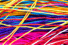 Colorful thread close up. Background. clothes fabric Stock Photo