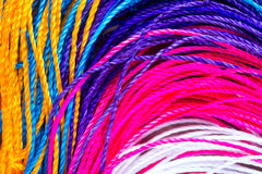 Colorful thread close up. Background. clothes fabric Stock Photos
