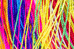Colorful thread close up. Background. clothes fabric Royalty Free Stock Images