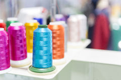 The colorful of the thread coil Stock Photos