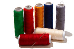 Colorful thread designed for sewing Stock Image