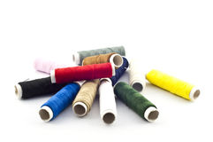 Colorful thread isolate. Royalty Free Stock Image