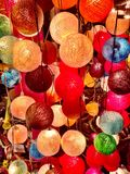 Colorful thread lamps texture background Royalty Free Stock Photo