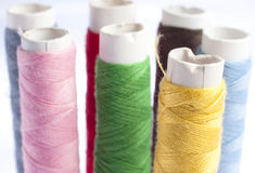 Colorful Thread Rolls Stock Image