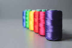 Colorful thread skeins Royalty Free Stock Photography