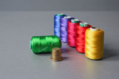 Colorful thread skeins Royalty Free Stock Photos