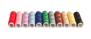 Colorful thread spools Royalty Free Stock Photos
