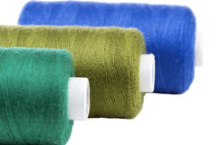 Colorful thread spools Royalty Free Stock Images