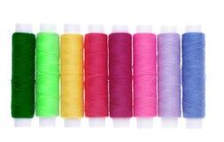 Colorful thread spools Stock Image