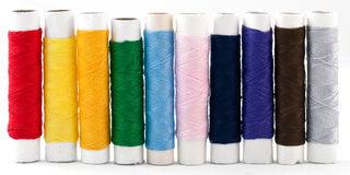 Colorful thread on white background Stock Photography