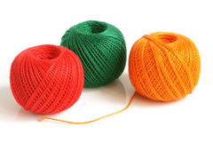 Colorful threads. On a white background Stock Images
