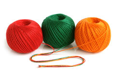 Colorful threads. On a white background Stock Photography