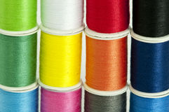Colorful Threads. Details of a set of colorful threads Stock Image