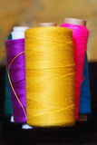 Colorful threads. On the blurry background,macro view Stock Photography