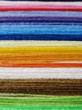 Colorful threads. Colorful sewing threads, needlecraft background Stock Photography