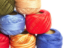 Colorful threads Stock Photo