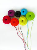 Colorful threads bouquet Royalty Free Stock Image