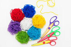 Colorful threads bouquet. Embroidery, Thread, Sewing. Royalty Free Stock Photography