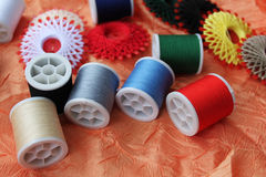 Colorful threads. Closeup picture of colorful threads Royalty Free Stock Photos