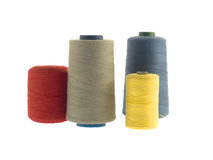 Colorful threads isolated on white Royalty Free Stock Photos