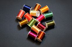 Colorful threads. Threads in several metallic colors Royalty Free Stock Images