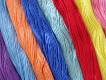 Colorful threads skeins Stock Image