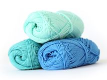 Colorful threads on the table Royalty Free Stock Images