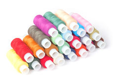 Colorful threads on a white Royalty Free Stock Photography
