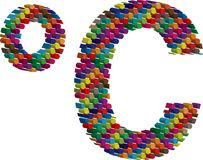 Colorful three-dimensional symbol Stock Photos